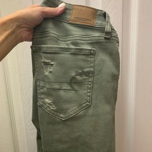 American Eagle Outfitters Pants - American Eagle Olive Jeggings Jeans - 2 short